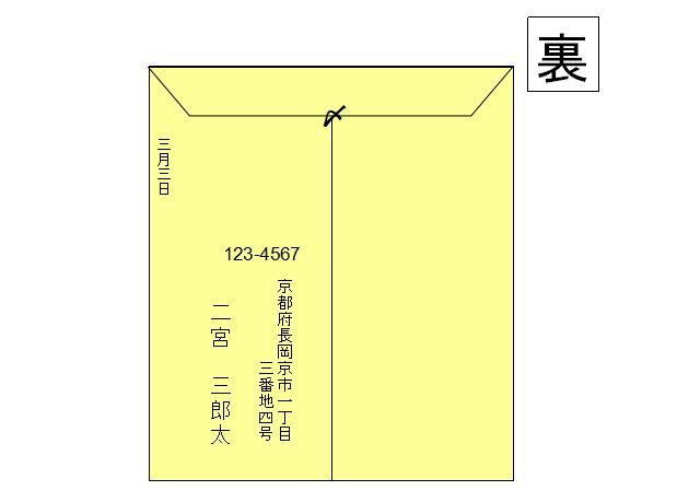 書き方 封筒 住所